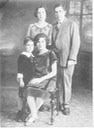 Norm in 1926 with parents and sister