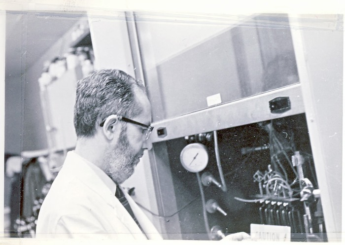 in the lab; late 70's